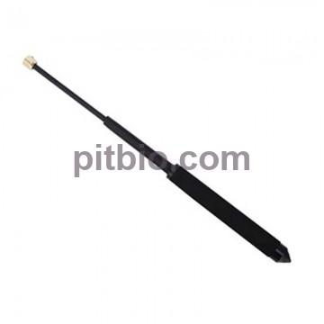 Телескопическая пружинная дубинка с куботаном черная Улучшенного качества