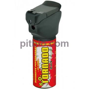 Газовый баллончик ESP KO Tornado с LED фонариком