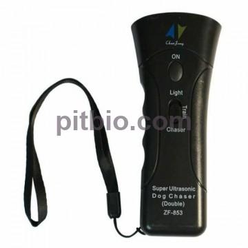 Отпугиватель собак ультразвуковой ZF-853 с лазером