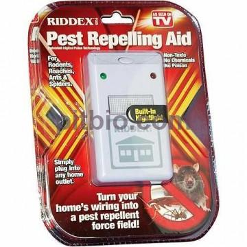 Отпугиватель насекомых, грызунов и тараканов ультразвуковой Riddex